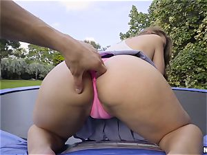 bouncing honey Ivy Rose poked in her tight pussyhole