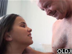 old youthful hefty baps nubile Gives tit banging gets facial cumshot cumsho