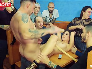 LETSDOEIT - red-hot nubile tantalized and banged At bondage & discipline party
