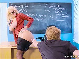 young stud Tyler Nixon pummels his mature schoolteacher Nicolette Shea