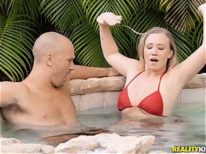Bailey Brooke outdoor pool fuckpole cockblower