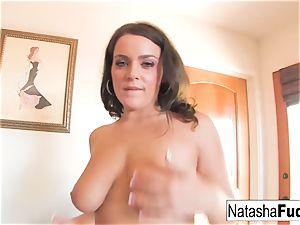 Natasha screws Her rump With a Purple toy