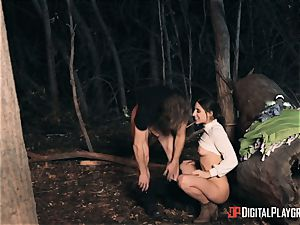 Abella Danger poked outdoors whilst camping