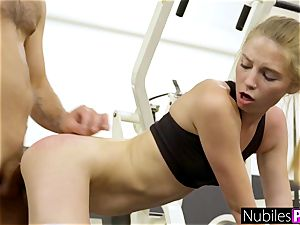lovely nymphomaniac pleads For shaft At Gym