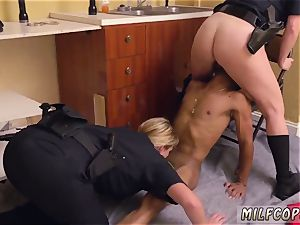 splendid latin cougar and antique youthfull dark-hued masculine squatting in home gets our mummy officers