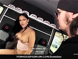 asses BUS - insatiable gal bi-racial sex and jizz on mounds