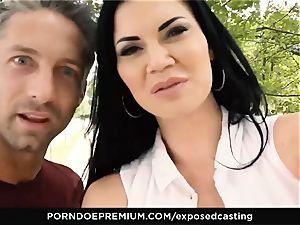 uncovered casting - porno starlet Jasmine Jae MMF 3 way