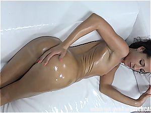 Czech babe milking