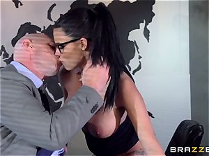 huge breasted Peta Jensen plumbed throughout the boardroom table