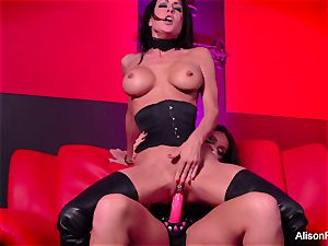 red room and steamy strap-on activity