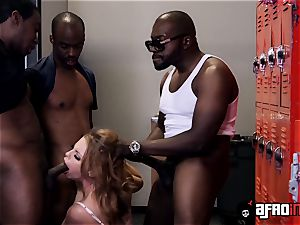 educator Britney Amber gets a individual blowbang with BBCs