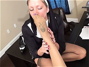 nasty nun penalizes a bad gal with pleasing her fetish hunger