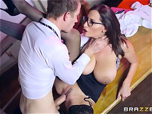 Lusty college girl Ella Hughes and her buxomy professor sensuous Jane need your meaty rock-hard prick