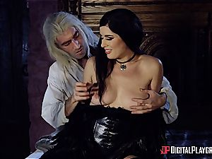 Danny D fools around as Geralt and boinks black-haired babe