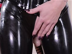 rigorous housewife with big manmeat fucks her submissive latex Lucy