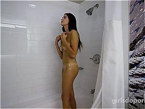 super hot college nubile in first porno ever