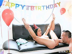 Melissa Lynn puss birthday thrash with Keiran