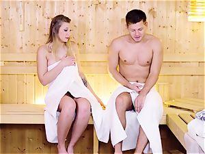 RELAXXXED - Sauna pound with Serbian blonde Vyvan Hill