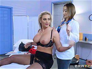 kinky patient Phoenix Marie girl/girl tear up with Dani Daniels