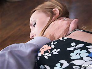 Ginger teen Katy kiss sucking trouser snake