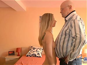 youthful assistant pulverizes elderly man manager boinks mind-blowing damsel