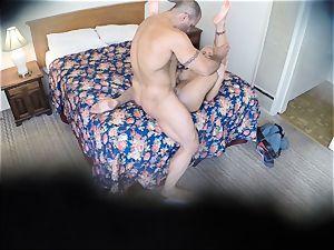 ultra-kinky Nina Elle pounds her boy at the hotel