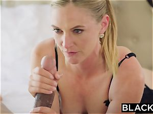 BLACKED sizzling wife cuckolds hubby with dark-hued neighbor
