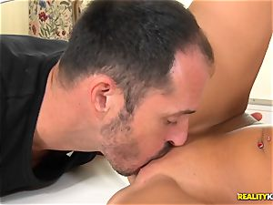 jizz swallowing dark-haired Sofia Like takes it in the booty