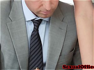 Vanessa the super-naughty assistant smashed on her desk