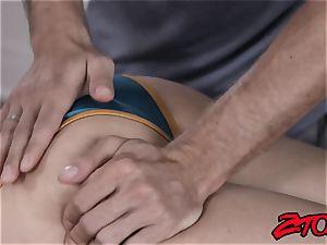 spectacular blonde degustating massagists hot jism