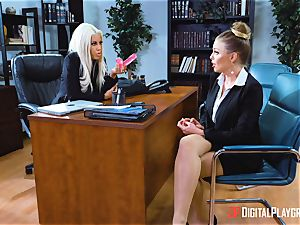 twat tryouts in the office with Bridgette B and Britney Amber