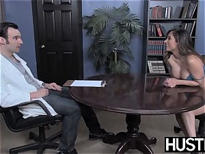 promiscuous cheerleader Leya Falcon wrecked by IR anal invasion