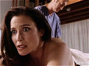 luxurious Mimi Rogers gets her whole body rubbed