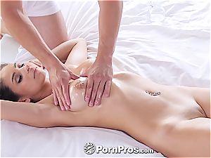 PornPros - Latina Nina North enormous oily mounds nail