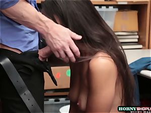 stud officer fucks Lilly Halls humid snatch in the office
