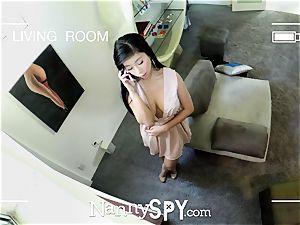 NannySpy asian nanny Jade Kush massage plowed