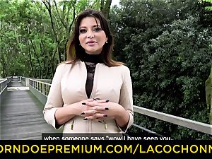 LA COCHONNE - jizz in facehole and double penetration for Anna Polina