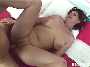 Stepson Caught milking By Her Stepmom In underpants