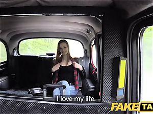 fake taxi slender red-haired loves harsh fucky-fucky