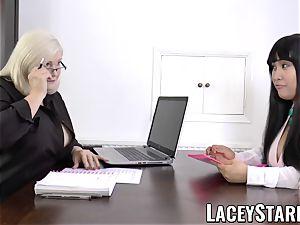 LACEYSTARR - business GILF tongue investigates young fuckbox