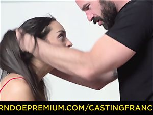 casting FRANCAIS - inexperienced ultra-cutie fucked and jism covered
