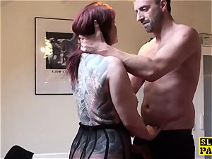 big-titted brit sandy-haired dominated with roughsex