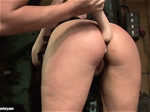 Kathia Nobili fake penis drill the caboose of her mate