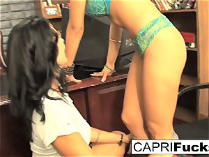 Capri Cavanni and Zoey Holloway drill