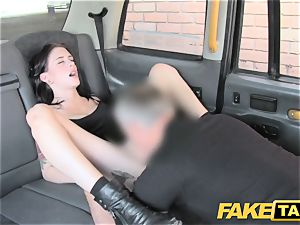 faux cab harmless american woman gets rump plumbed