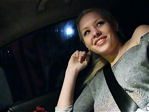 ultra-cute Lola Taylor gets fleshy banging on the back seat
