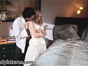Bride Lexi Belle is boned by her fresh husband