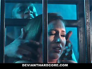 DeviantHardcore - caged fuckslut Gets dominated By big black cock
