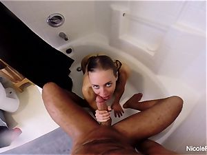 humid point of view douche intercourse with Nicole Aniston
