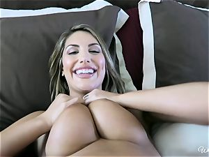 August Ames and Kenna James getting succulent on cam